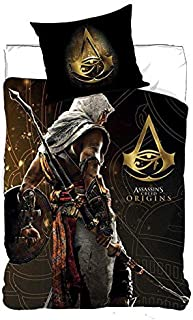 NEW IMPORT Ropa de Cama, Funda nordica 140x200cm de Assassin'S Creed (710-262), Negro, 140x200
