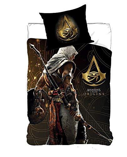 NEW IMPORT Ropa de Cama, Funda nordica 140x200cm de Assassin'S Creed (710-262), Negro, 140x200