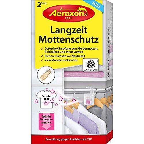 Aeroxon Langzeit-Mottenschutz 2 Stück, Weiß/Lila, 18x13x4 cm