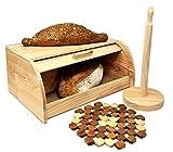 Pack ➨ Panera de Madera ✙ Portarollos de cocina ✙ Salvamantel de Bambú...