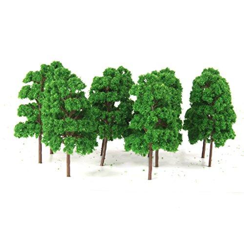 Lot de 20pcs Abies Holophylla Arbre Modèle Paysage de Modélisme Ferroviaire Echelle 1/150 Vert Jade