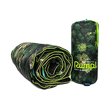 Rumpl The Original Printed Puffy High Performance Indoor/Outdoor Camping Blanket, Old Growth, Throw