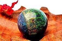 【 福縁閣 】【1点物】美しい遊色! ボルダーオパール 19mm 丸玉(台座なし) 大粒_PH0115 天然石 パワーストーン ビーズ