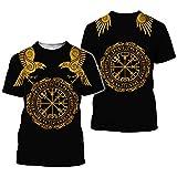 BBYaki Camiseta del Tatuaje De Viking Camisa Símbolo Tótem 3D Impreso Mujeres De...