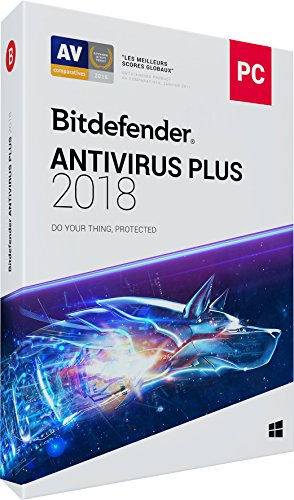 Bitdefender Antivirus Plus 2018 | 1 PC | 1 an | Disc