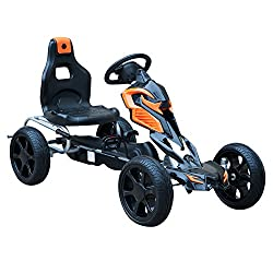 ✅Made of Quality plastic and steel to hold up to 30kg weight. ✅EVA tires allow Kart to be enjoyed on different surfaces. Smooth and Quite to be enjoyed by children. ✅Paddling in both direction front and back mechanism. ✅Suitable for Kids between 5-12...