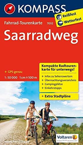 Fahrrad-Tourenkarte Saarradweg: Fahrrad-Tourenkarte. GPS-genau. 1:50000. (KOMPASS-Fahrrad-Tourenkarten, Band 7032)