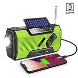Wind Up Radio, Emergency Radio Solar Crank AM/FM Weather Radio with Portable 2000mAh