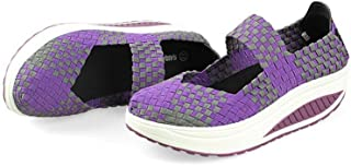 BY0NE Women's Walking Sports Shoes Height Increasing Summer Breathable Mesh Wedges Platform Woman Sneaker