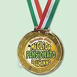 Partycolarità Medaglia Olimpionica Pensionato - Medaglia d'oro al Miglior Pensionato Dell'Anno 8CM
