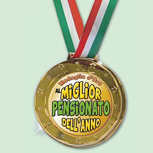 Partycolarità Medaglia Olimpionica Pensionato - Medaglia d oro al Miglior Pensionato Dell Anno 8CM