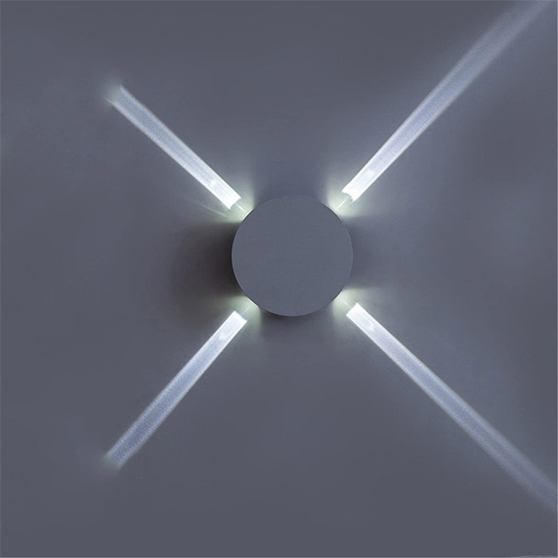 StiefelU LED Wandleuchte nach oben und unten Wandleuchten Wandleuchten LED-Leuchten Schlafzimmer Wohnzimmer Wand Road Cross Street, rund