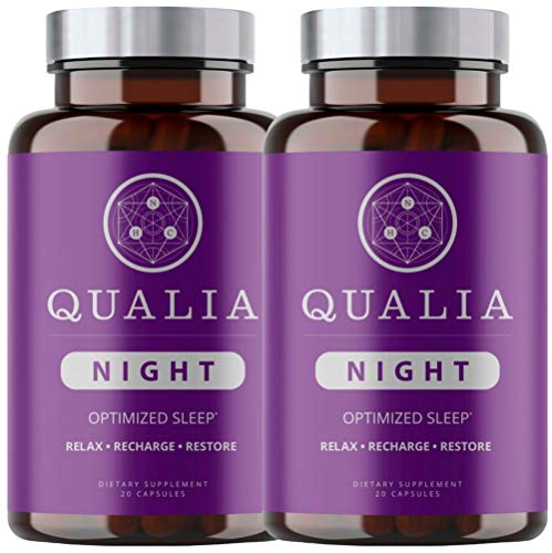 Qualia Night   Enhance Natural Sleep for Adults   Support Deep Refreshing Sleep, Recovery, and Brain Performance (40 Count (Pack of 2))