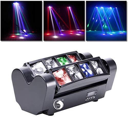 UKing Disco Lumière d'araignée,jeux de lumiere pour soiree 8x10W LED RGBW Du son et DMX512 Controller,pour Club Bar KTV Disco Show