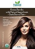 Henné per capelli marrone scuri, 100% puro, rafforza, fa brillare, senza sostanze chimiche, certificato USDA biologico