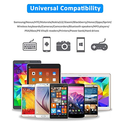 Aioneus Micro USB Kabel, Ladekabel Android [1M+2M, 2 Stück] Nylon Handy Ladekabel Micro USB Schnellladekabel für Samsung Galaxy S7/S6/S5/J7/J5/J3/Note 5, Huawei, Tablet, Xiaomi, PS4 Controller