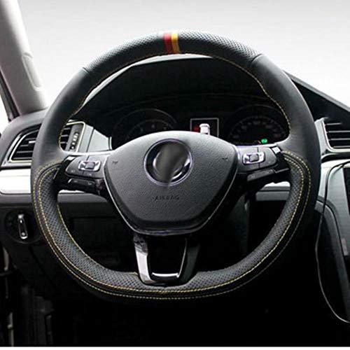 DIY Wildleder Auto Lenkradabdeckung, für Volkswagen Polo Jetta Passat B8 Tiguan Sharan Touran VW Golf 7 Mk7 Neu