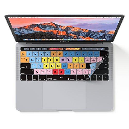 Avid Media Composer Tastaturschutz für MacBook Pro mit Touch-Bar, 13 und 15 Zoll (auch für Magic Keyboard).