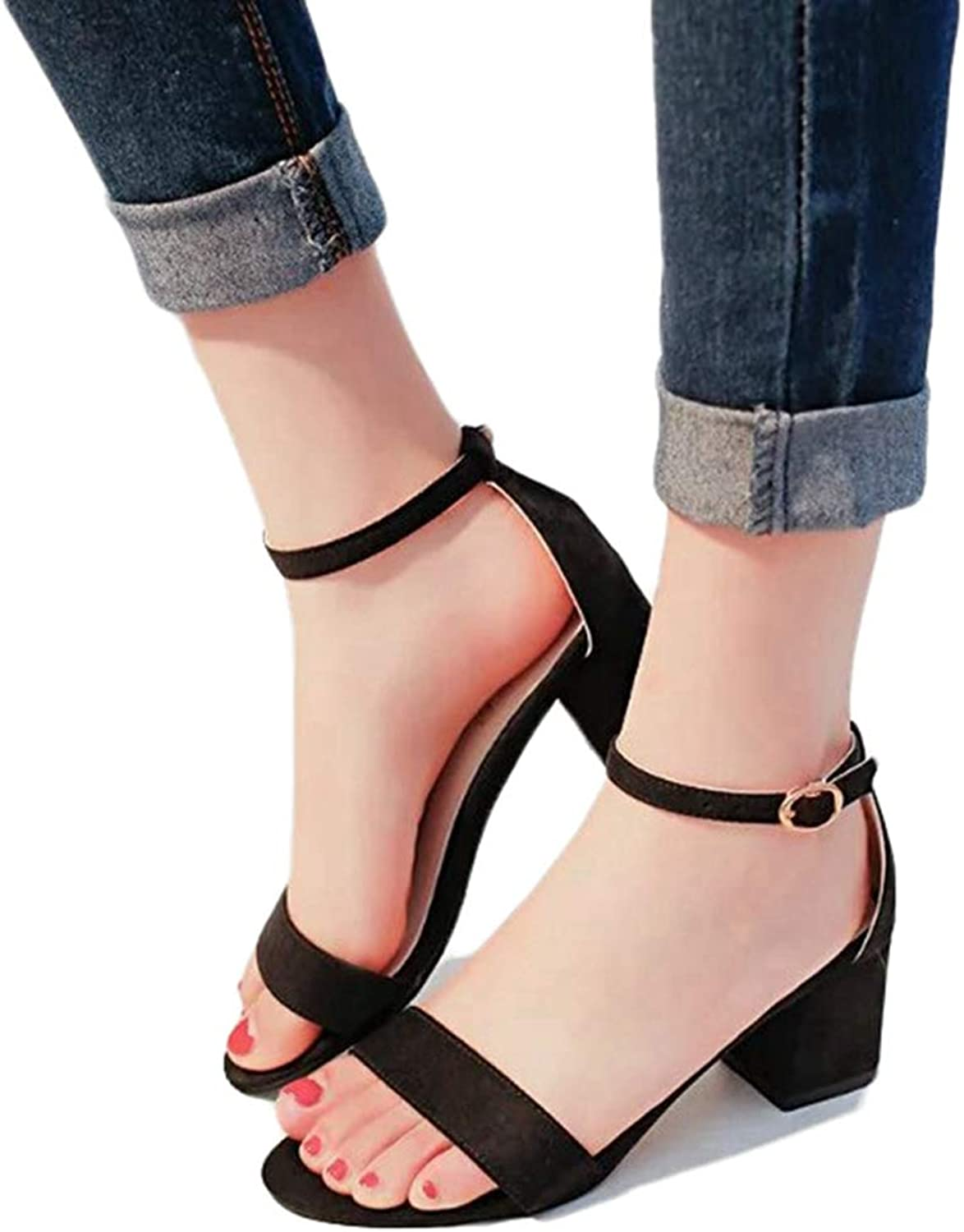 Kyle Walsh Pa Women Pumps Summer Sandals Woman Suede Round Open Toe Low High Heels
