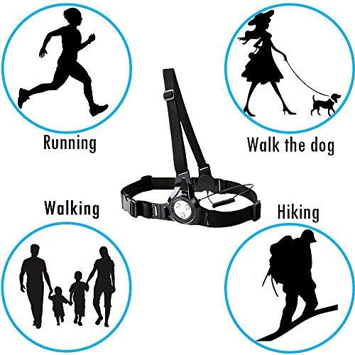 Suptig Outdoor Sports Fotografie Brust Running Light, Nacht Running Lauflicht, Nacht Sports Lauflicht Connected Verwendung für Gopro Serie und Action Kamera Built-in Akku aufladen - 6