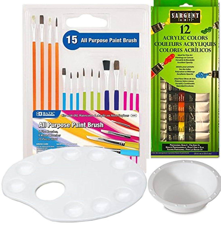 Artists Paint set Acrylic Set & Paint Brushes paint Palette Water Cup accessories