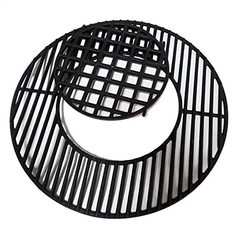 soldbbq 8835 Cast Iron 21.5' Grill Grates for Weber Original Kettle Premium 22-inch Charcoal Grill, 22'' Smokers, Replacement Parts for Weber 22' Performer Premium Grill