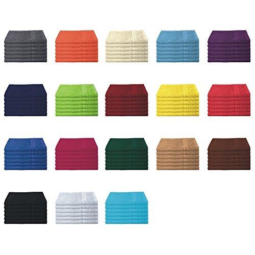 Bettenpoint 6er Pack / 12er Pack - Gästetücher Set - 6 Gästetücher 30x50 cm - Farbe Anthrazit