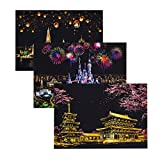 Exceart 3 Pcs Night View Scratch Night View Scraping Painting DIY Night View Scraping Painting Scratch Art Paper for DIY Drawing Toys