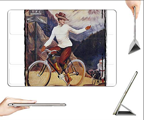 Case for iPad Pro 12.9 inch 2020 & 2018 - Bicycle Vintage Hat Old Antique Man Mountain