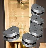 LED 3 Seiten Glaskantenbeleuchtung 6-er Set Clip / Mod.2295-6 / Glasbodenbeleuchtung Vitrinenleuchte Schrankbeleuchtung warmweiß Komplettset