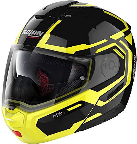 Nolan N90-3 Driller N-Com - Casco modular, color negro/amarillo, talla S (56)