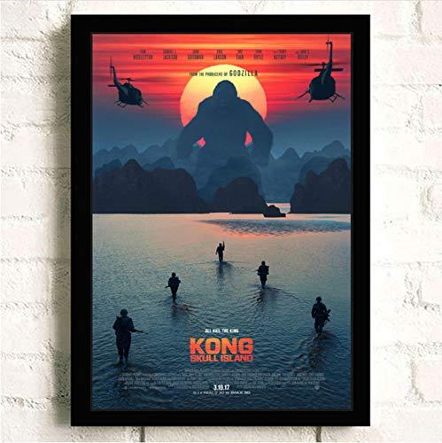 Imprimir En Lienzo King Kong Skull Island Pintura Calidad Reying Decoración Para El Hogar Decoración De Arte Sala De Estar Carteles Arte De La Pared Pintura De La Lona A223 (40X60Cm) Sin Marco