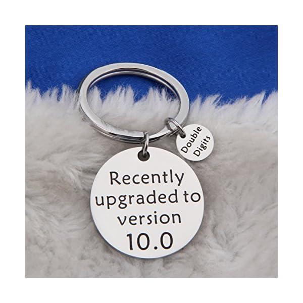 FEELMEM Birthday Gift Happy Birthday Keychain, 10th 12th 13th 16th 30th, Stainless Steel Birthday Key Ring Gift, for Women, Men, Kids, Friends and Family