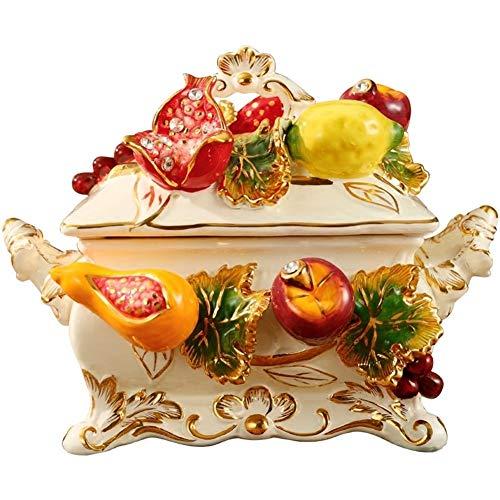 Kronleuchter El Tanque de almacenaje de cerámica de Estilo Europeo, con la Tapa de Caramelo Tarro Grande del pote del té joyería Tanque de Almacenamiento Decoración