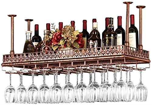 Estantes de Vino Colgando Porta Botella de Vino Metal Vino Copa de Vino Rack Gobilet Stemware Racks Altura Ajustable