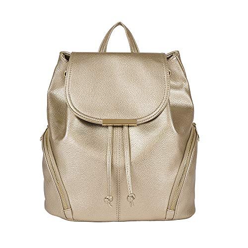 Aiseyi Women Backpack Purse PU Leather Fashion Designer Backpack Ladie Travel Casual Rucksack (Gold)