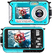 Waterproof Digital Camera Underwater Camera Full HD 2.7K 48 MP Video Recorder Selfie Dual Screens 16X Digital Zoom Flashlight Waterproof Camera for Snorkeling (DV806)