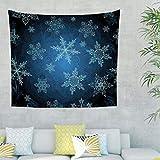 NC83 Weihnachten Musterdruck Tapisserie Mandala Exklusiv Wall Decor - Dunkle Marine für Halloween Dekorationen White 200x150cm