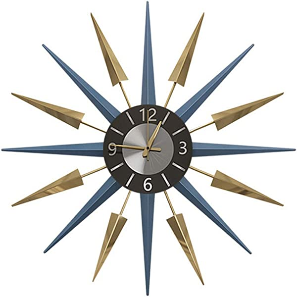 Wall Clock Nordic Classic Meteor Living Room Art Atmosphere Personality Modern Minimalist Home Creative Mute Clock Size 71cm Blue 56cm