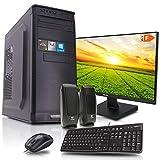 dcl24.de [11832] Office Komplett PC Set Intel i9-9900 8x3.1 GHz - 32GB DDR4, 480GB SSD & 2TB HDD, Intel UHD Grafik 630 1GB, 24 Zoll TFT, Maus Tastatur, Windows 10 Pro Büro Computer Desktop Rechner