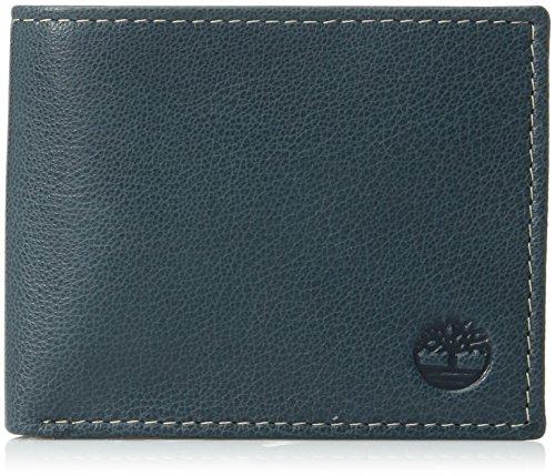 Timberland Herren Leather Wallet with Attached Flip Pocket Reisezubehör - zweifach gefaltetes Portemonnaie, Navy, Einheitsgröße