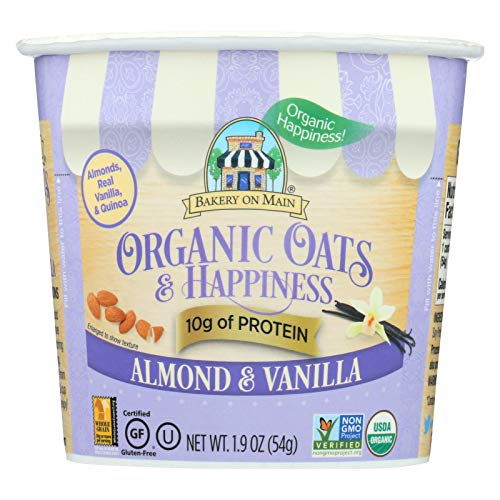 BAKERY ON MAIN, OAT&HPYNS, OG2, ALMOND VANL, Pack of 12, Size 1.9 OZ - No Artificial Ingredients Gluten Free Wheat Free 95%+ Organic