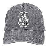 gymini Pesca pescador 60 años cumpleaños sombreros algodón lavable béisbol gorras ajustables para hombre mujer
