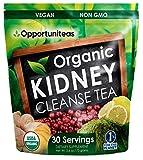 Organic Kidney Cleanse Tea - Matcha Green Tea, Cranberry, Lemon & Ginger - 4 Cleansing Superfoods...