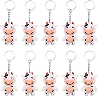 PRETYZOOM - 10 targhette per chiavi con etichette e tappi identificativi, con simpatici tappi colorati