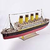 titanic maqueta de madera para montar puzzle 3d