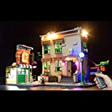 PEXL Juego de iluminación LED para Lego Barrio Sésamo, juego de iluminación para Lego 21324 Sesame Street (sin juego de Lego), versión con mando a distancia