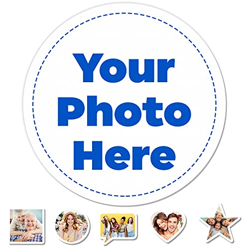 Personalized from 63 pcs Sticker Design Your Own Picture Photo Customized Vinyl Waterproof Decal Custom Labels Stickers Text Name Images with Many Styles Selection for Birthday