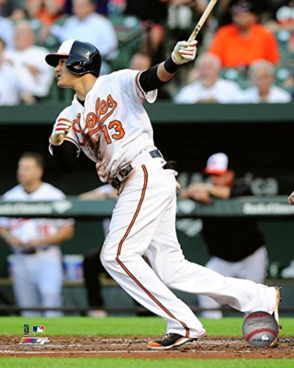 Baltimore Orioles Manny Machado 16x20 Stretched Canvas   3