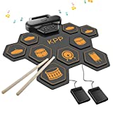 Electronic Drum Set,Drum Pads Kit with Headphone Jack Built-in Speaker,Drum Pedals,Drum Sticks,Foot Pedals,Gift for Christmas Holiday Birthday